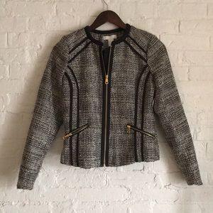 H&M grey heather zip blazer